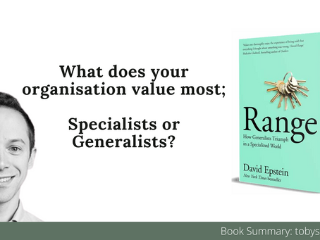 Book Summary: Range - Why Generalists Triumph by David Epstein | The 3 Big Ideas and Best Quotes
