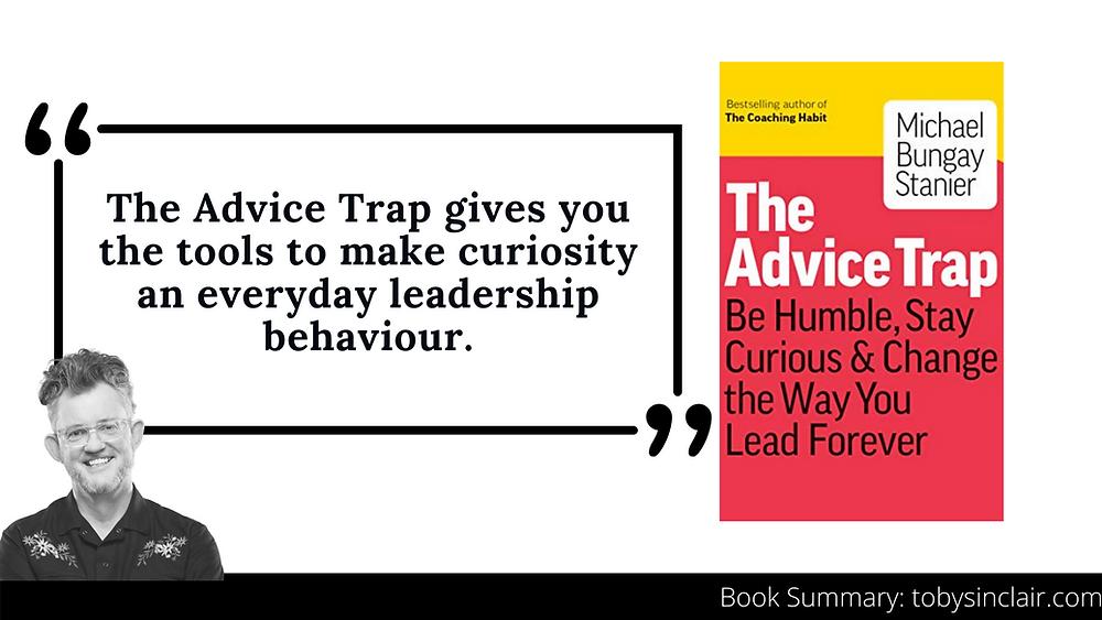 Advice Trap Book Summary Banner