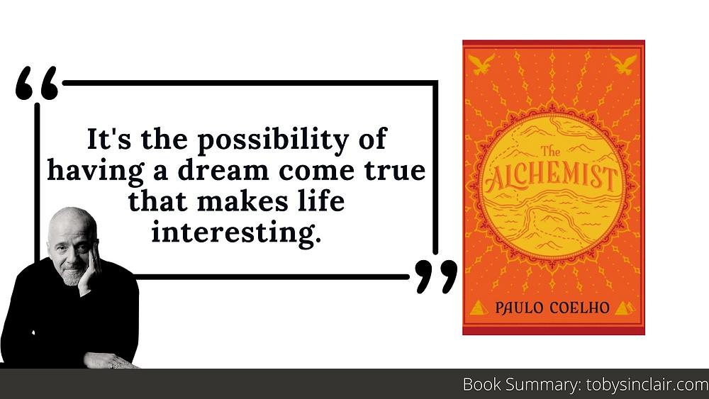 Alchemist book summary banner