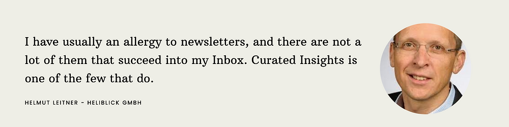 Curated Insights Testimonial 1