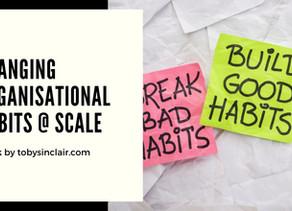 Changing Organisational Habits at Scale | Talk & Workshop