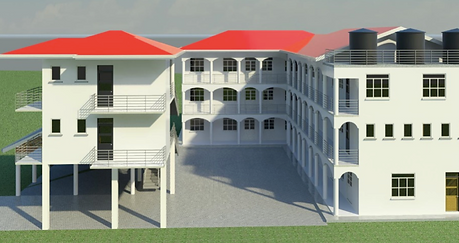 rear view school architect design