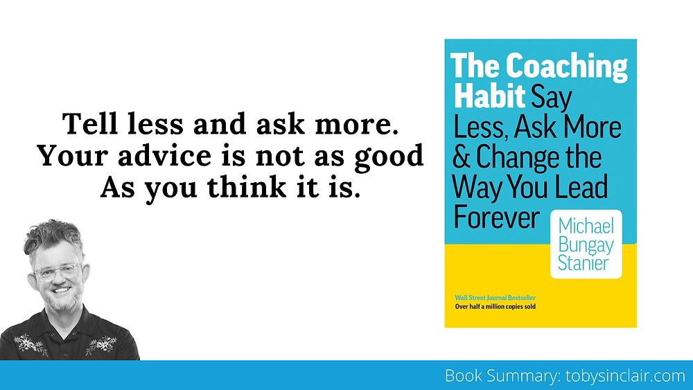 Coaching Habit Book Summary Banner