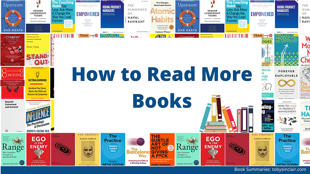 How to read more books banner