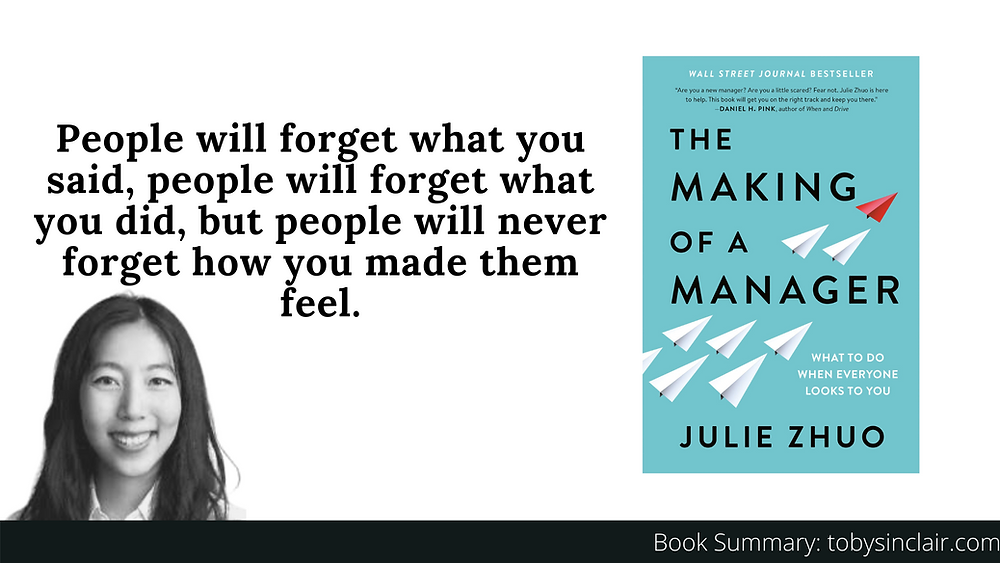 Book Summary The Making of a Manager Julie Zhuo