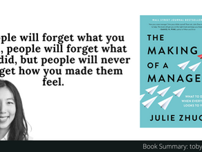 Book Summary: The Making of a Manager by Julie Zhuo