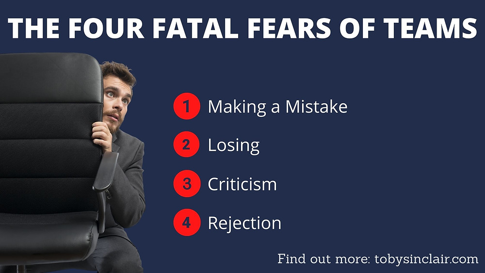 Four Fatal Fears Making a mistake Losing Criticism Rejection