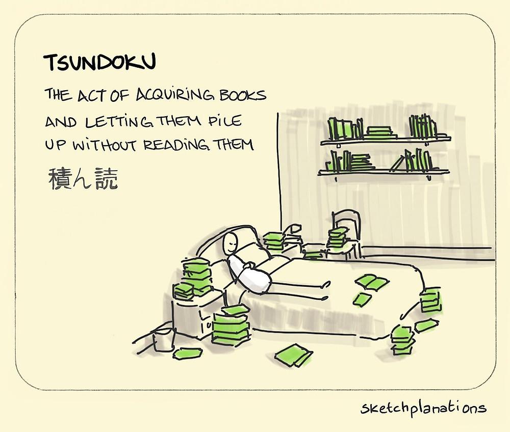 Tsundoku Cartoon