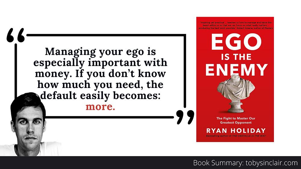 Ryan Holiday Ego Is the Enemy Summary