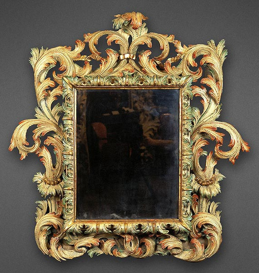 A RARE AND IMPORTANT GENOVESE BAROQUE MIRROR