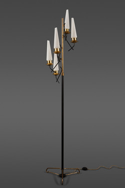 A DRAMATIC AND UNUSUAL STILNOVO FLOOR LAMP