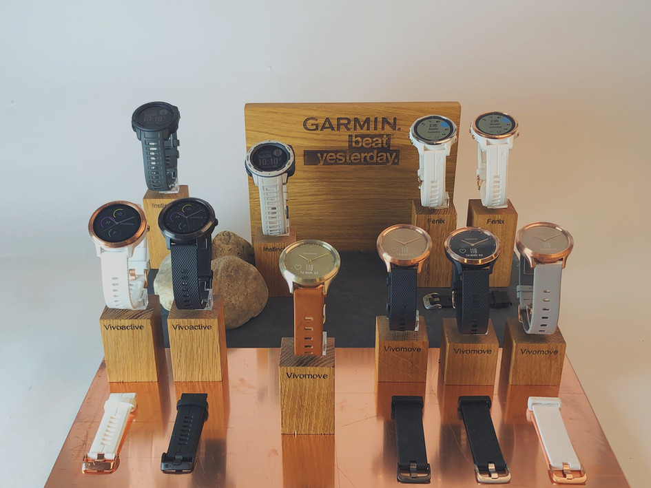 Garmin watch displays