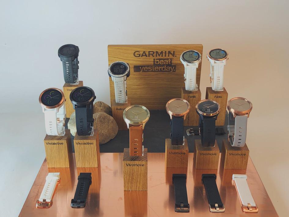 Garmin watch displays
