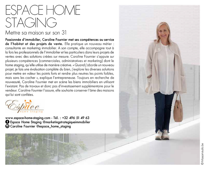 Espace Home Staging Article Presse ELLE Magazine