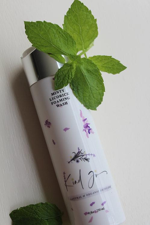 Kind Jo Natural & Organic Minty Licorice Foaming Wash