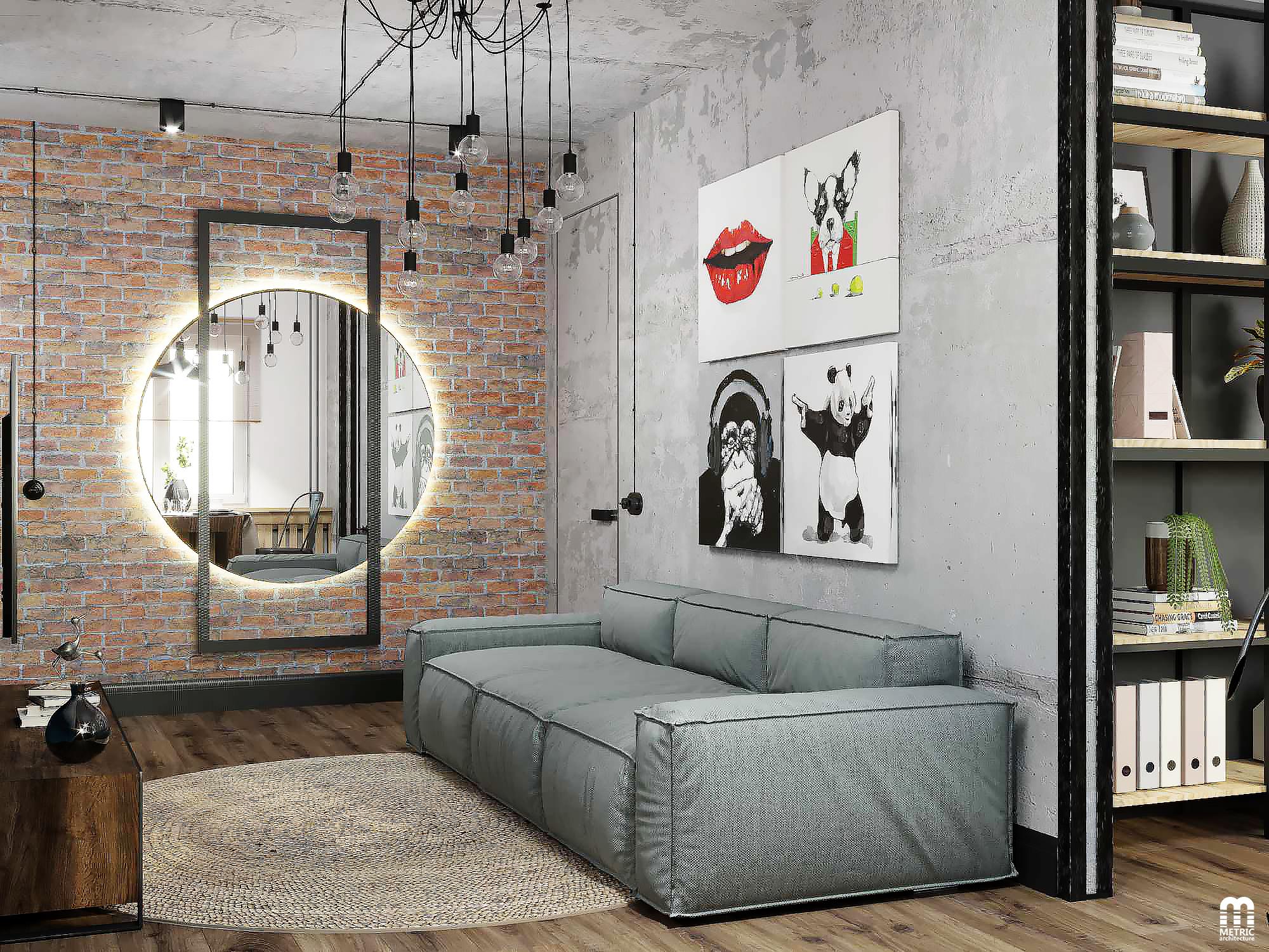 Гостиная loft