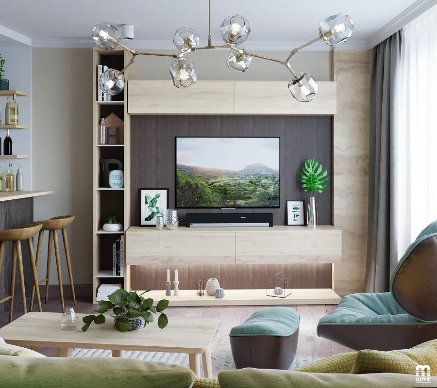 Интерьер гостиной METRIC Минск