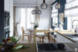 metric дизайн интерьера кухни-столовой