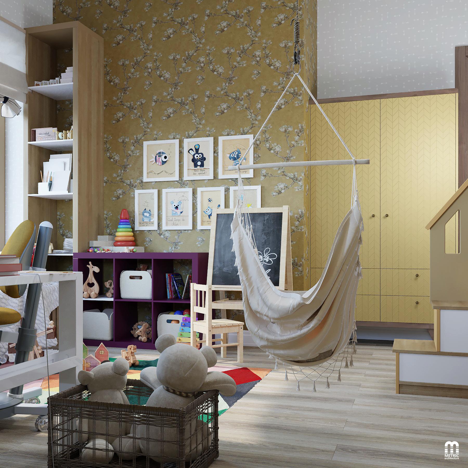 Интерьер детской в доме METRIC