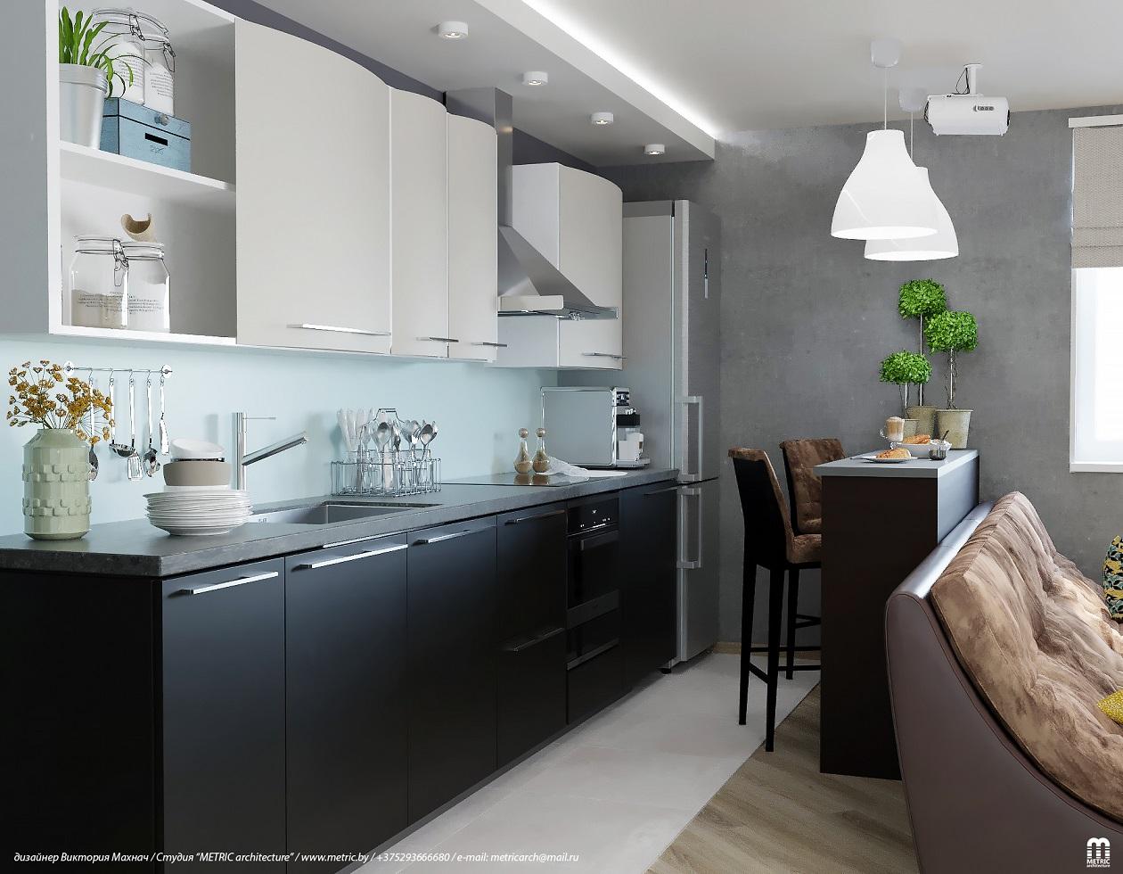 Гостиная-кухня METRIC Минск