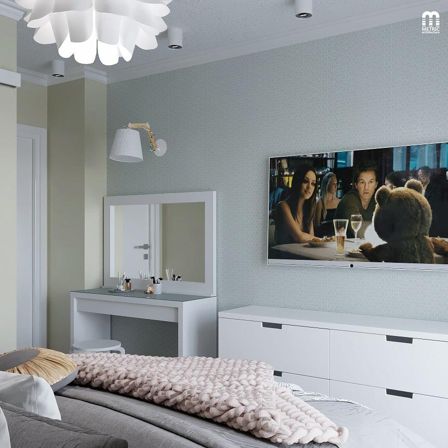 Интерьер спальни METRIC Минск