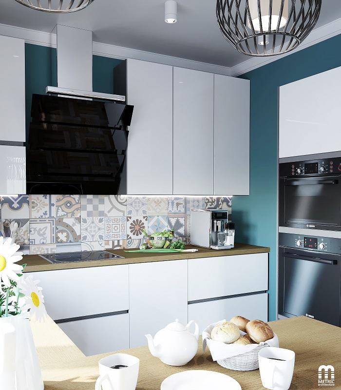 Дизайн интерьера кухни METRIC Минск