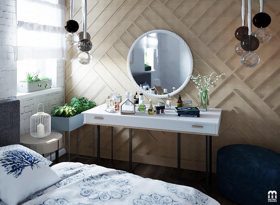 Дизайн интерьера спальни METRIC