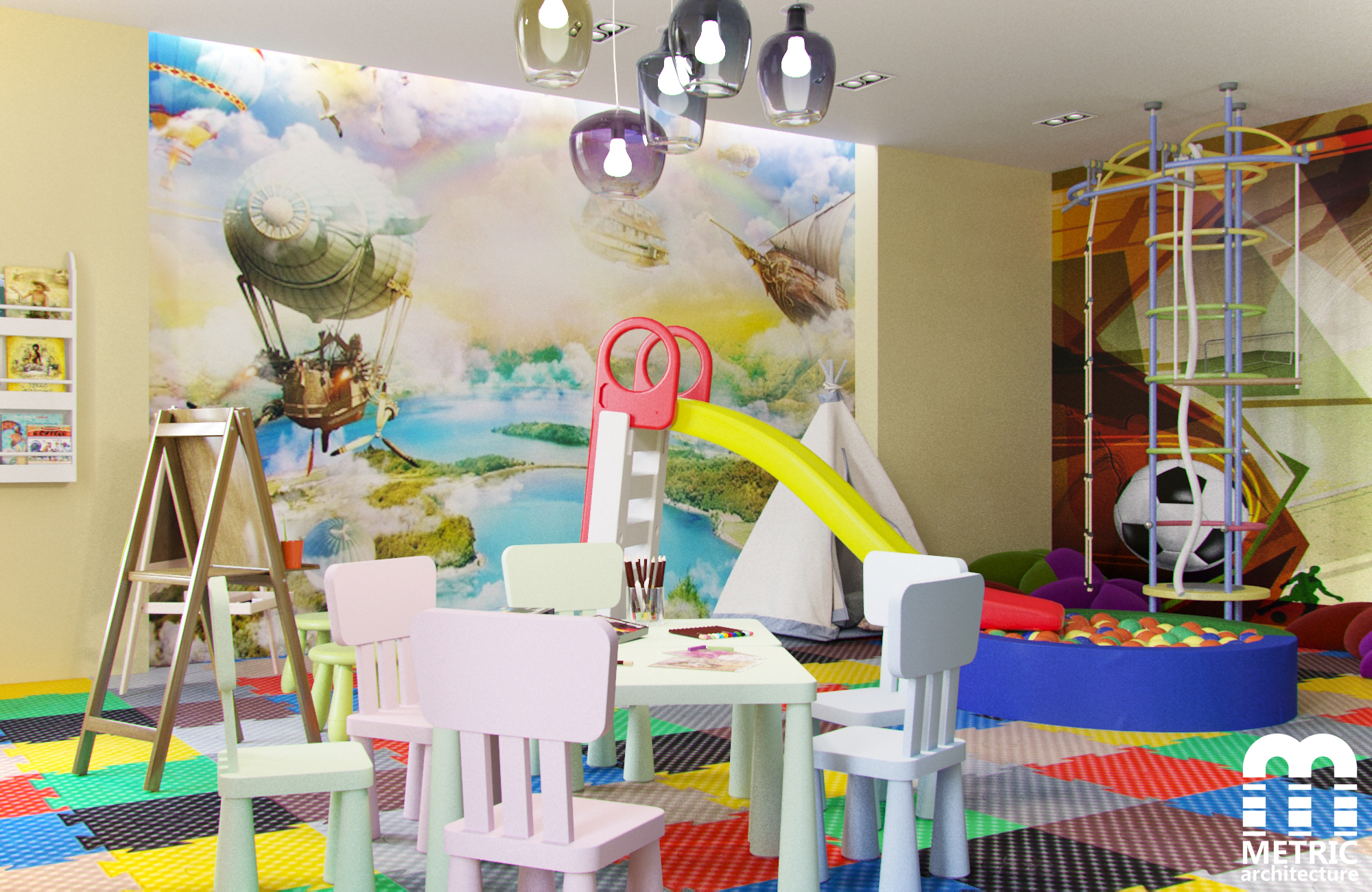 Дизайн интерьера детской игровой