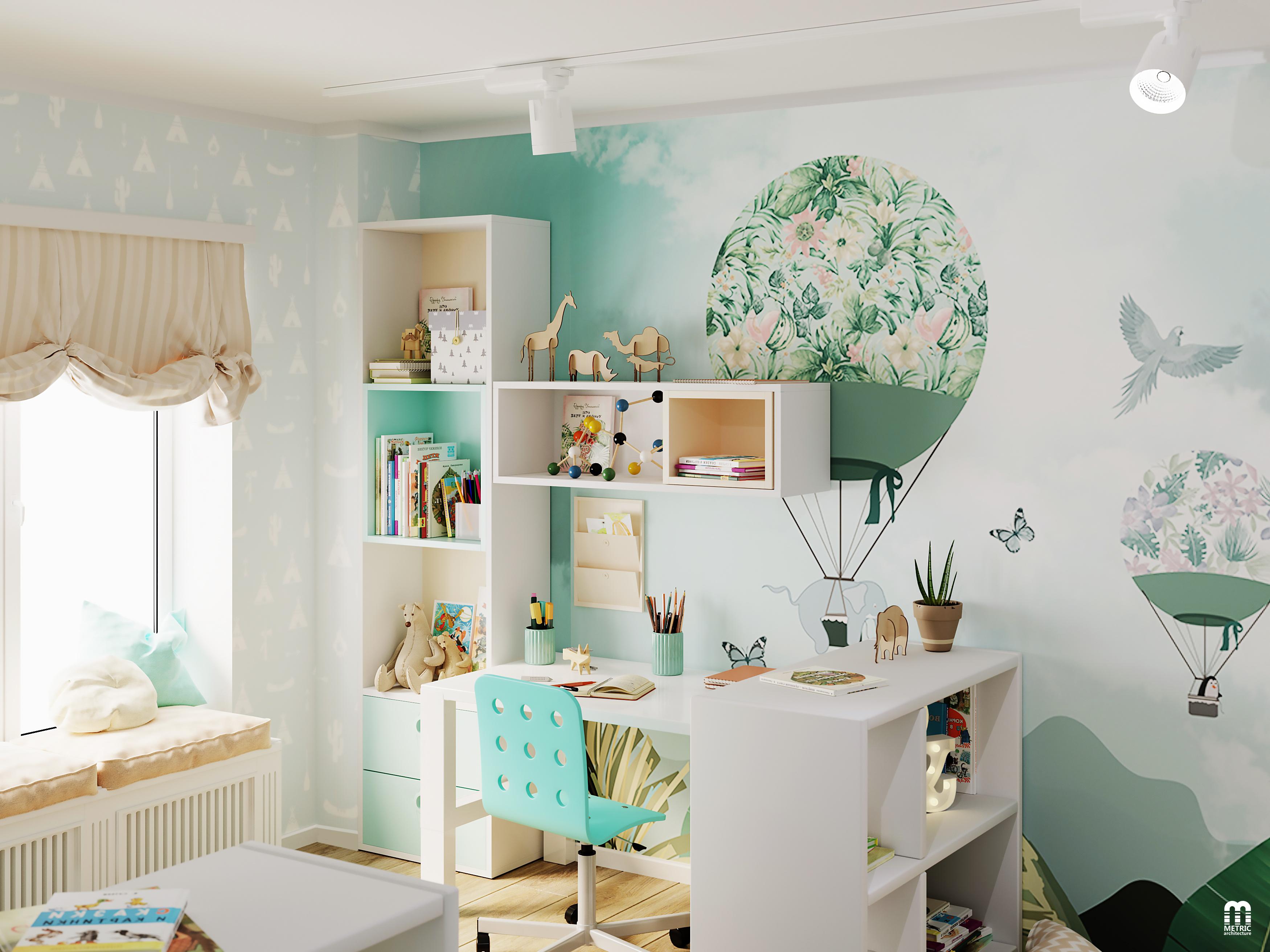 Интерьер детской комнаты METRIC Минс
