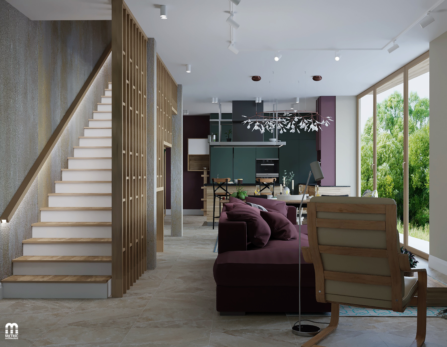 Дизайн интерьера дома METRIC Минск