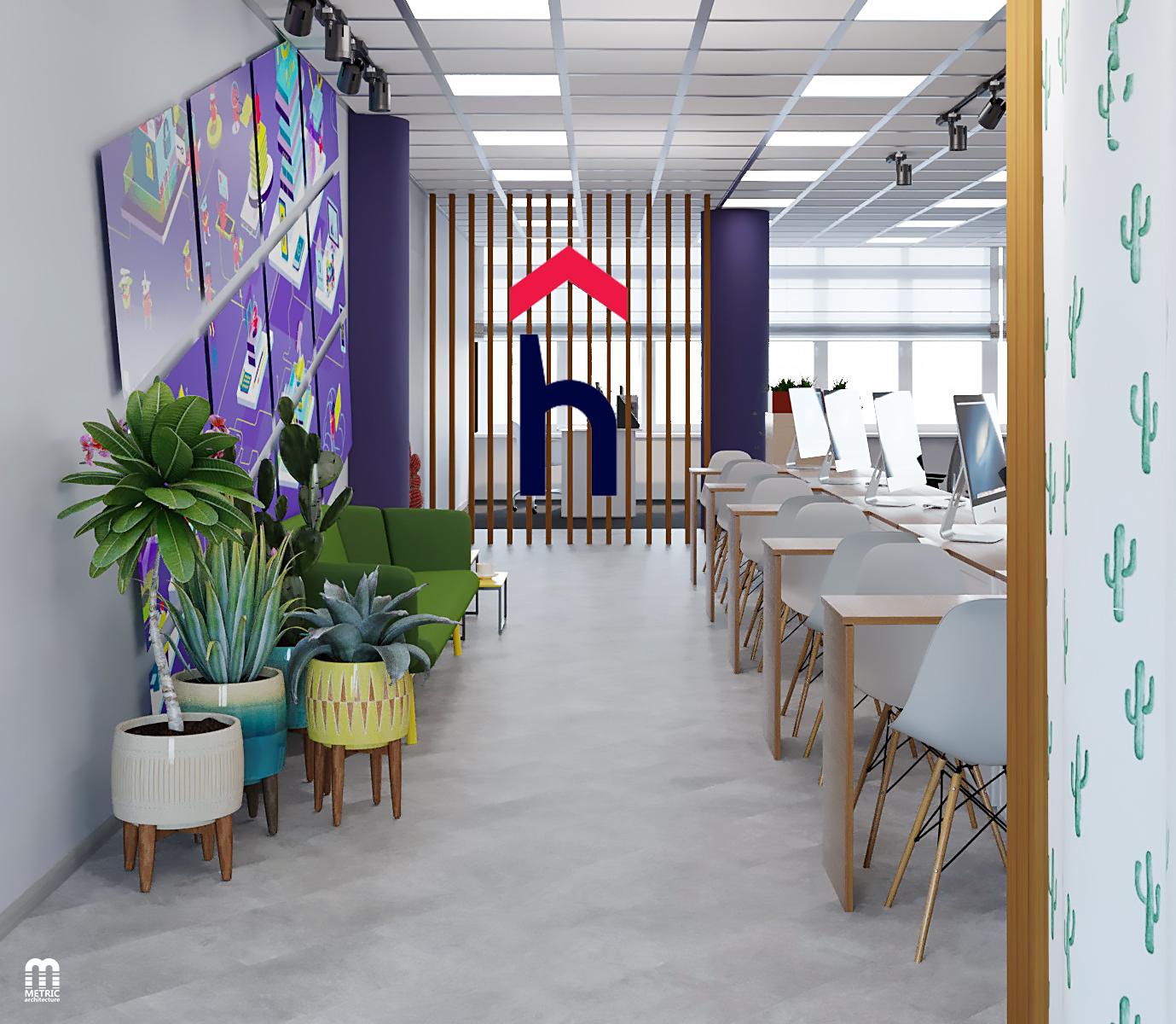 Интерьер офиса Hoster.by METRIC