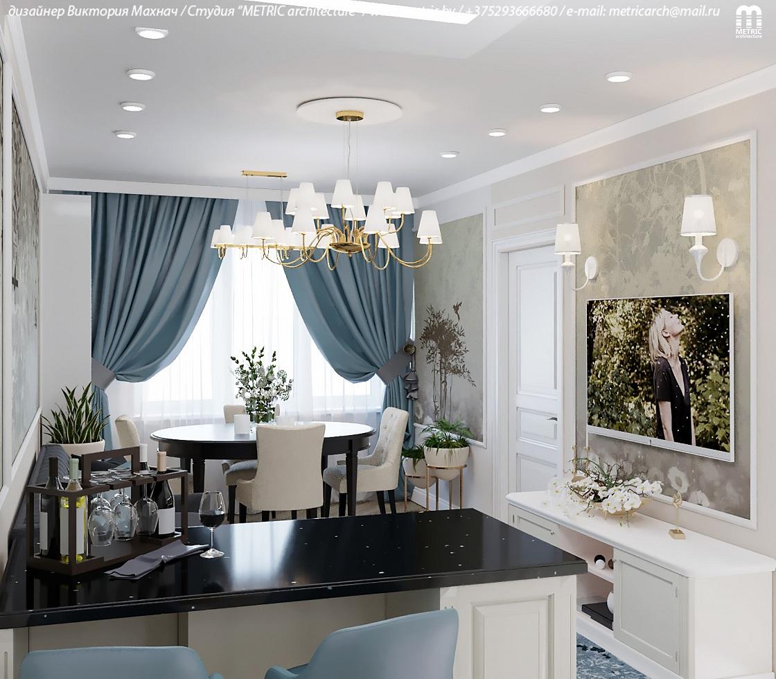 Кухня-гостиная Минск METRIC