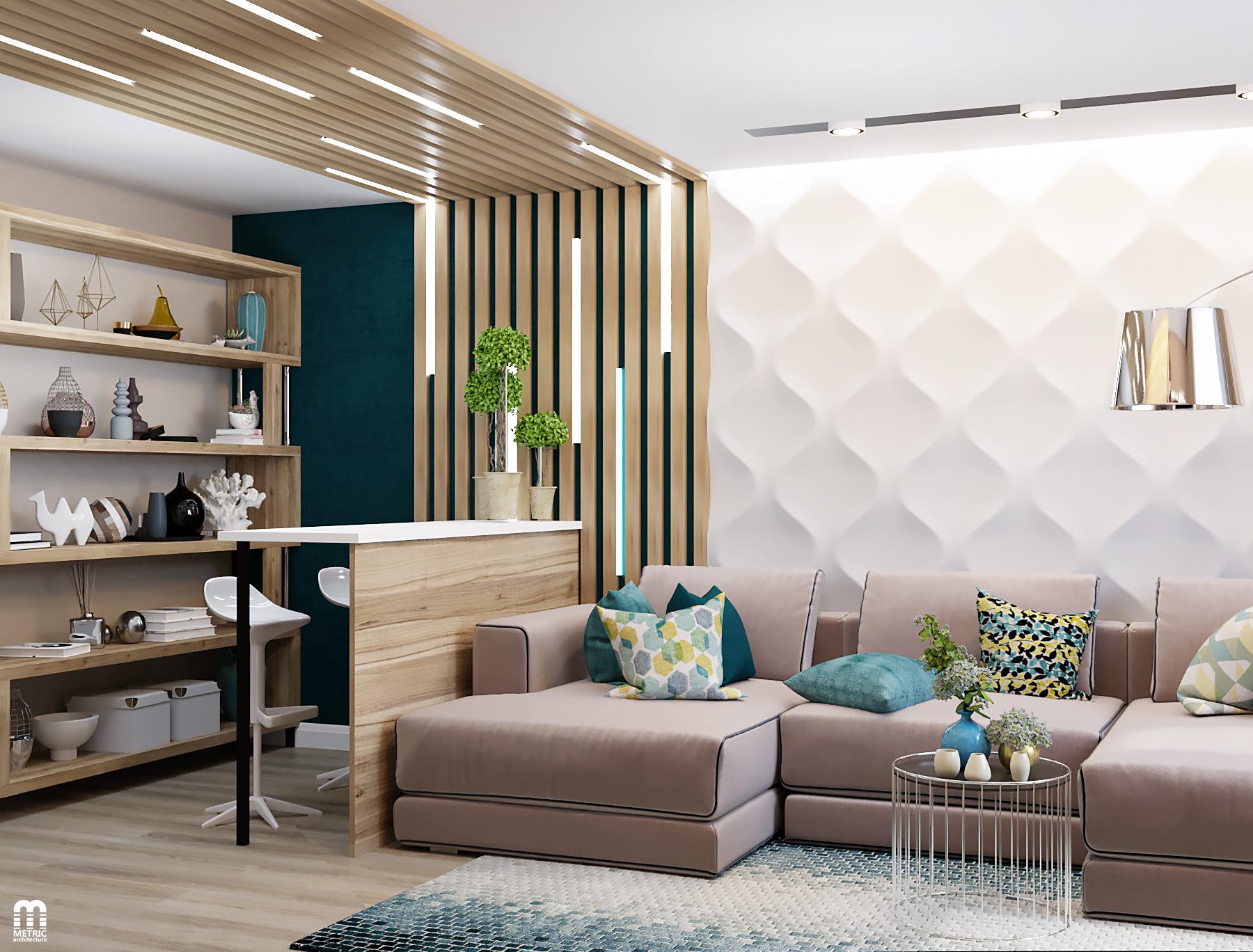 Дизайн интерьера квартиры METRIC