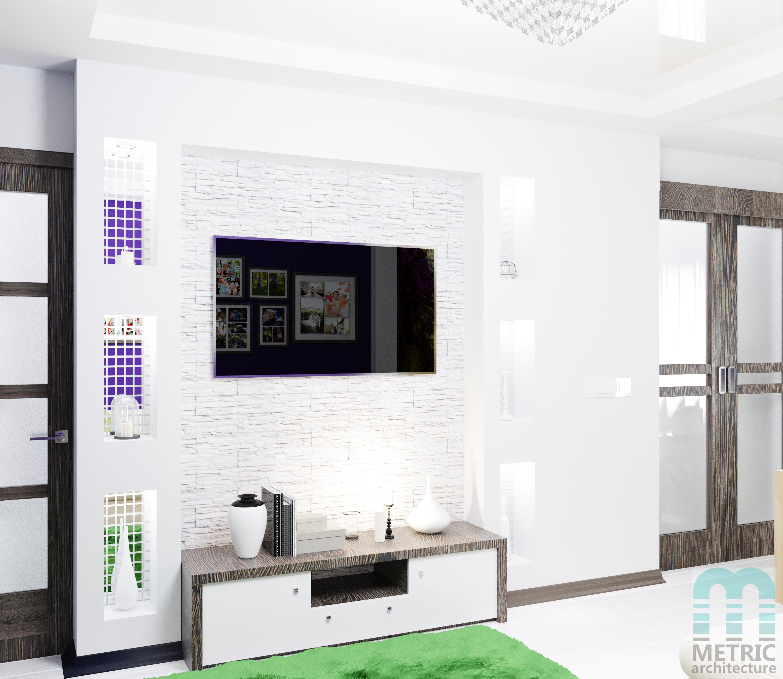 Дизайн интерьера гостиной METRIC РБ