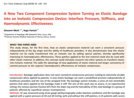 Inelastic versus elastic: Lundatex® system's 2-component compression properties examined