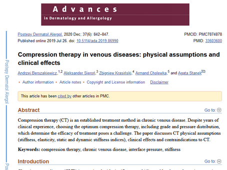 """""""Compression therapy in venous diseases: physical assumptions and clinical effects"""""""