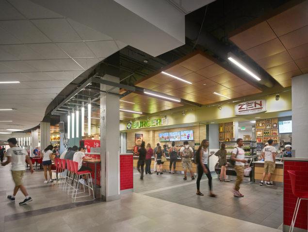 Temple University Howard Gittis Student Center food court