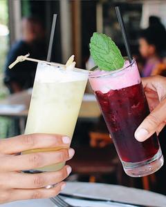 Cocktails at Cafe Rue Dix