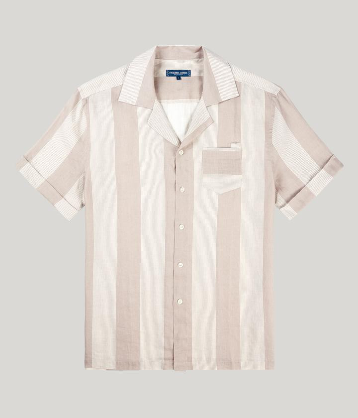 CabanaStripe Camp Collar Shirt
