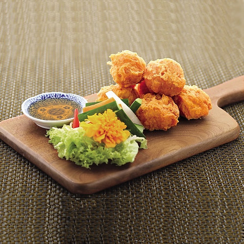 Crispy Fried Prawn Dumpling 酥炸炸虾枣 (S)