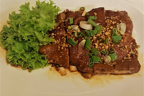 Smoked Turkey Drumstick with Hot and Spicy Sauce 麻辣烟重火鸡腿