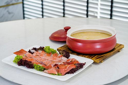 Poached Slice Giant Garoupa with Supreme Stock 堂灼白浓汤龙趸片