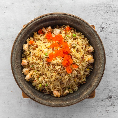 Fried Rice With Cavier And Sea Treasures 鱼子海鲜鸳鸯饭