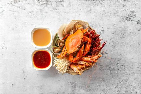 Crab Seafood Claypot 海鲜大餐(螃蟹)