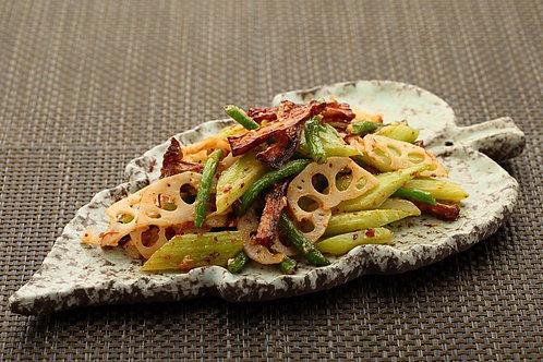 四季平安好运来(XO酱山药三蔬) Fried Fresh Chinese Yam with Three Kind of  Vegetables (L)