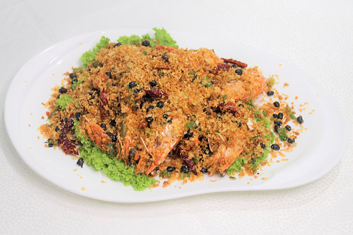 Deep Fried Prawn with Crispy Garlic and Seven Spice Powder 避风塘脆生虾
