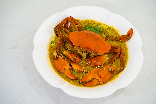 Stewed Crab Vermicelli in Golden Stock 黄焖螃蟹米粉