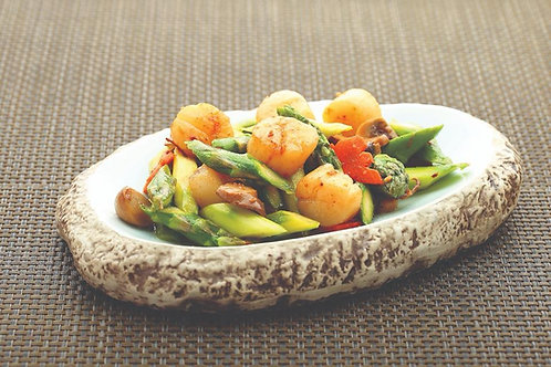 子孙满堂代代福 (XO芦笋带子) Stir Fried Scallop with Asparagus  in XO Sauce (S)