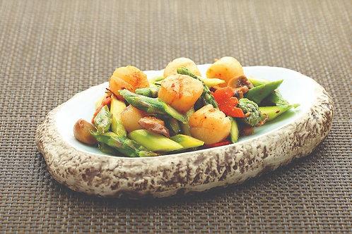 Sauteed Fresh Scallop with Asparagus in XO Sauce XO 酱爆芦笋带子
