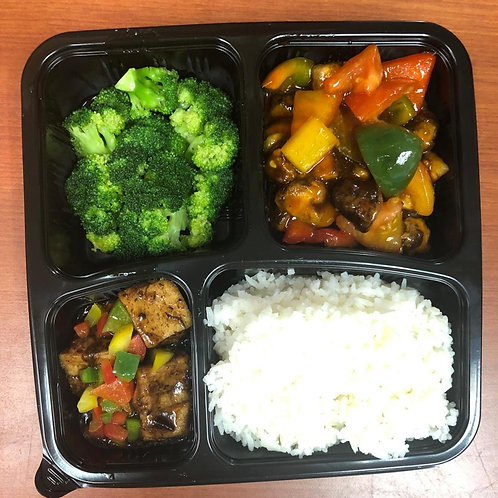 Vegetarian Bento Sweet and Sour Set